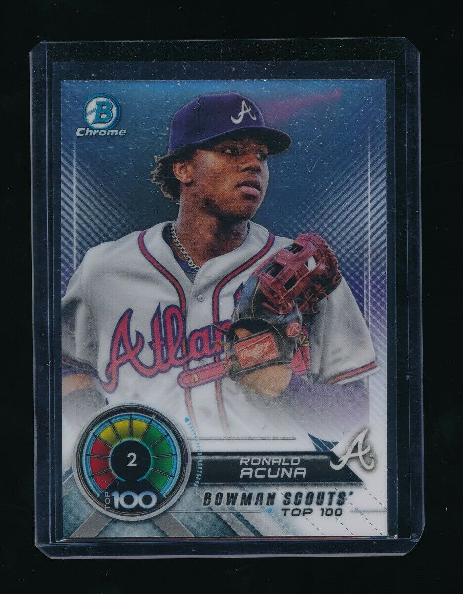 RONALD ACUNA 2018 BOWMAN CHROME SCOUTS TOP 100 #BTP2 *ATLANTA BRAVES* A