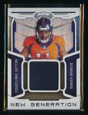 COURTLAND SUTTON 2018 CERTIFIED NEW GENERATION RC JERSEY *DENVER BRONCOS*