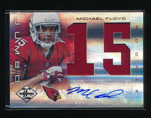 MICHAEL FLOYD 2012 LIMITED ROOKIE JUMBO JERSEY NUMBER RC AUTO 31/49 *VIKINGS*