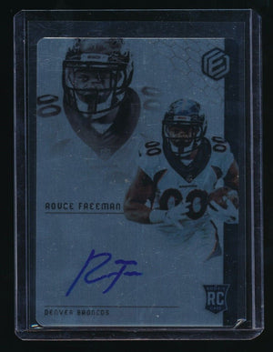 ROYCE FREEMAN 2018 PANINI ELEMENTS #87 RC AUTO 100/199 *DENVER BRONCOS*
