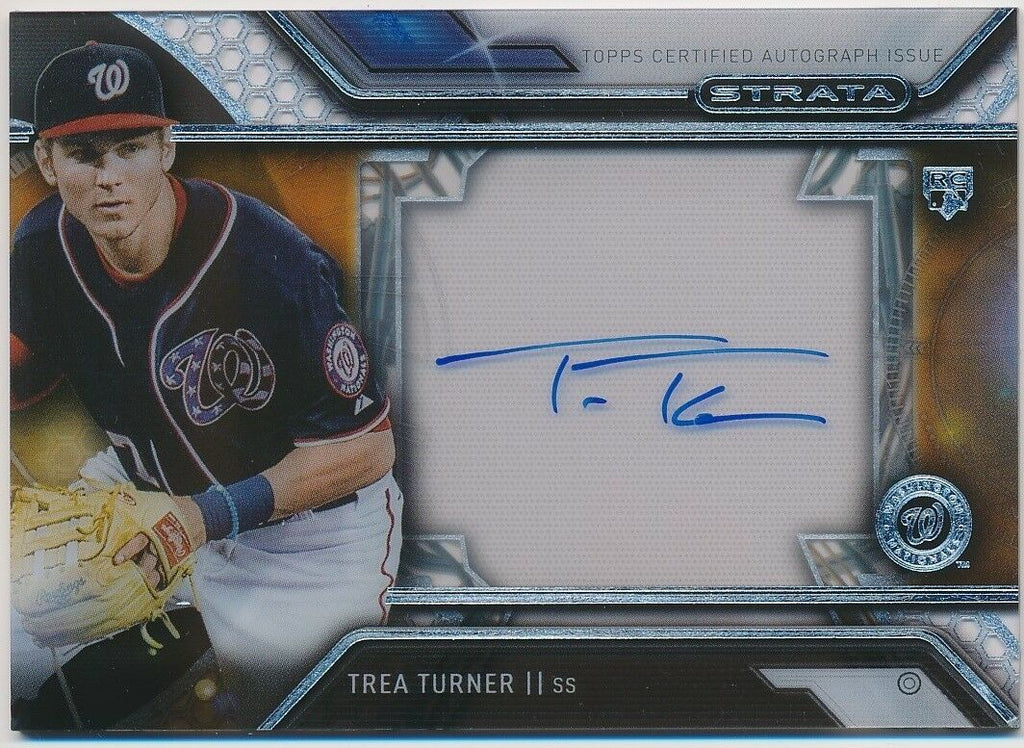 TREA TURNER 2016 TOPPS STRATA AUTOGRAPH ROOKIE CARD #SATT *WASHINGTON NATIONALS*