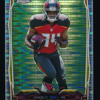 CHARLES SIMS 2014 TOPPS CHROME MINI PULSAR REFRACTORS RC 095/102 *BUCCANEERS*