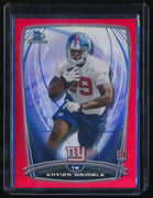 XAVIER GRIMBLE 2014 BOWMAN CHROME RED REFRACTOR #157 RC 05/25 *NEW YORK GIANTS*