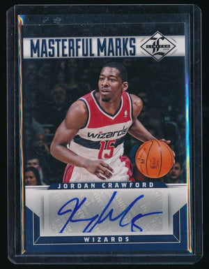 JORDAN CRAWFORD 2012-13 LIMITED MASTERFUL MARKS SIGNATURE AUTO 11/99 *WIZARDS*