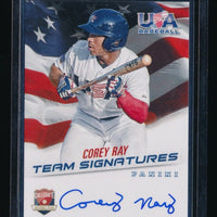 COREY RAY 2015 USA BASEBALL COLLEGIATE NATIONAL TEAM RC AUTO 094/399 *BREWERS*