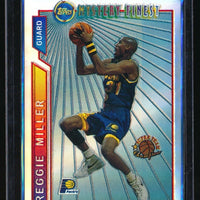 REGGIE MILLER 1996-97 TOPPS MYSTERY FINEST BORDERED REFRACTOR #M22 INDIANA PACER