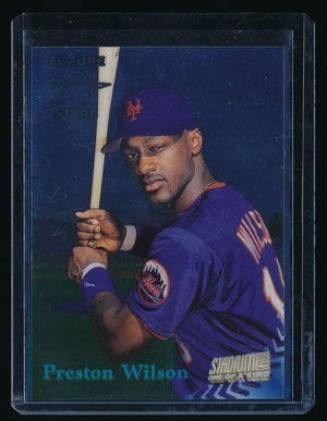 PRESTON WILSON 1998 STADIUM CLUB RC ONE OF A KIND 086/150 NEW YORK METS