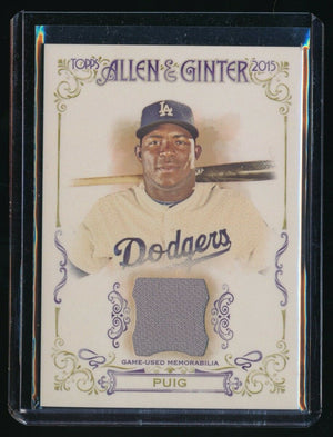 YASIEL PUIG 2015 TOPPS ALLEN AND GINTER RELIC JERSEY *LOS ANGELES DODGERS*
