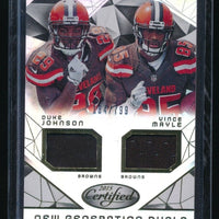 DUKE JOHNSON VINCE MAYLE 2015 CERTIFIED NEW GENERATION DUAL RC JERSEY 184/799