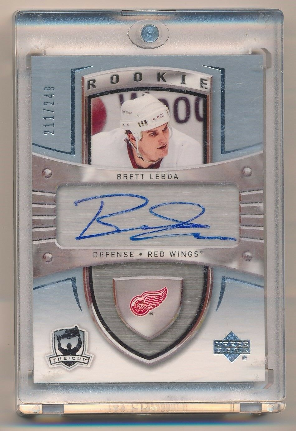 BRETT LEBDA 2005-06 UPPER DECK THE CUP AUTO RC 211/249 *DETROIT RED WINGS*