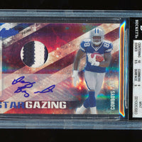 BGS 9 DEZ BRYANT 2010 PANINI ABSOLUTE STAR GAZING COWBOYS PATCH AUTO RC #D 10/10
