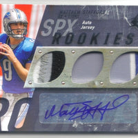 MATTHEW STAFFORD 2009 SPX ROOKIES SILVER RC MULTI-PATCH AUTO 07/25 DETROIT LIONS