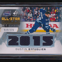 DUSTIN BYFUGLIEN 2015-16 SP GAME USED ALL-STAR SKILLS JERSEY 039/125 WINNIPEG