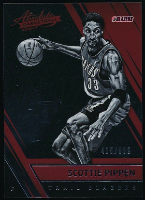 SCOTTIE PIPPEN 2016-17 PANINI ABSOLUTE MEMORABILIA 415/999 *TRAIL BLAZERS*