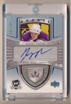 GEORGE PARROS 2005-06 UPPER DECK THE CUP AUTO RC 101/249 *LOS ANGELES KINGS*