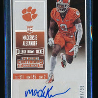 MACKENSIE ALEXANDER 2016 PANINI CONTENDERS DRAFT PICKS BOWL TICKET RC AUTO 87/99