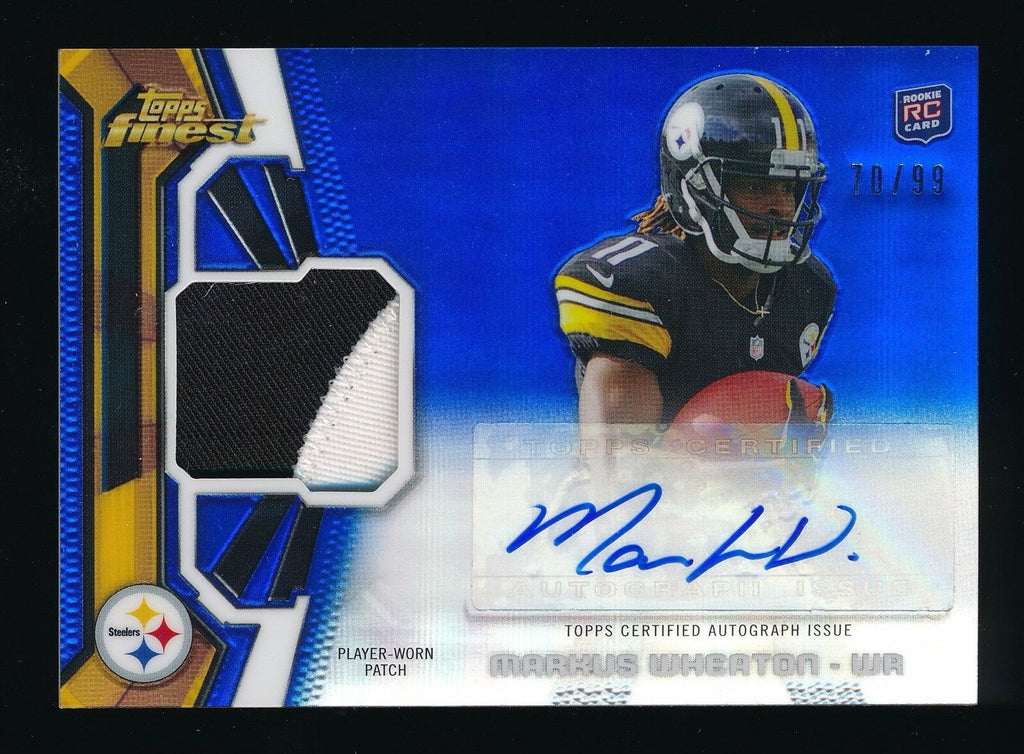 MARKUS WHEATON 2013 FINEST ROOKIE PATCH BLUE REFRACTOR RC AUTO 70/99 *STEELERS*