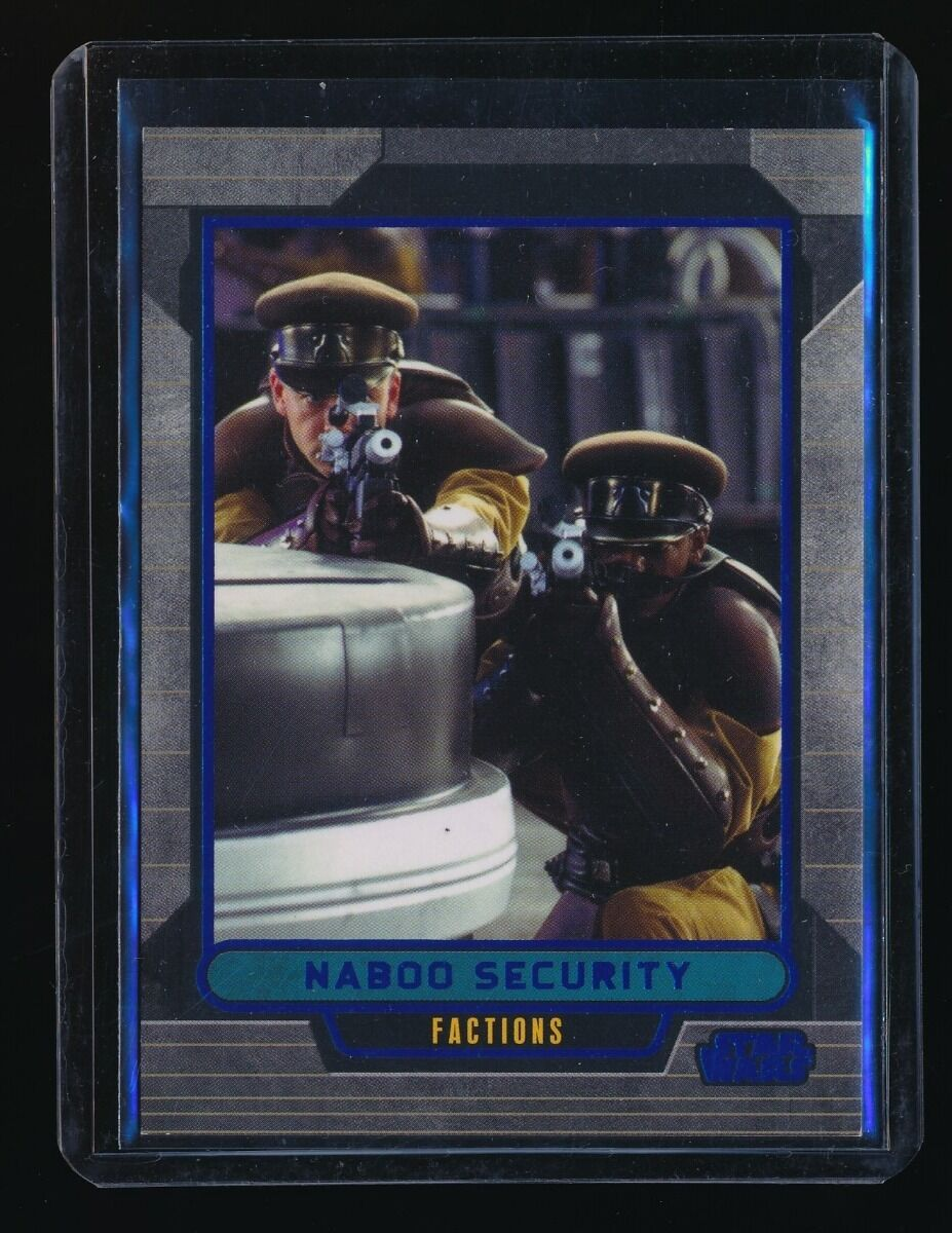 NABOO SECURITY 2012 STAR WARS GALACTIC FILES BLUE FOIL #321 334/350