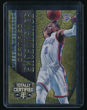 RUSSELL WESTBROOK 2014-15 TOTALLY CERTIFIED EXCELLENCE 248/299 OKLAHOMA CITY