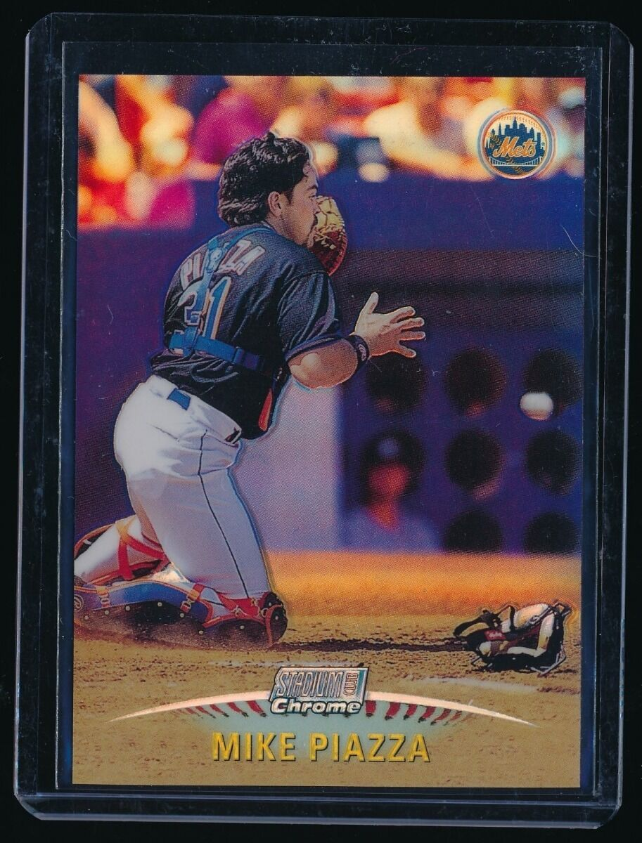 MIKE PIAZZA 1999 STADIUM CLUB CHROME REFRACTOR NEW YORK METS