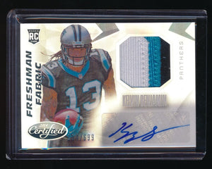 KELVIN BENJAMIN 2014 CERTIFIED RC PATCH AUTO 254/699 *CAROLINA PANTHERS*