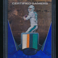 RYAN TANNEHILL 2017 CERTIFIED GAMERS JERSEY MIRROR BLUE PATCH 21/25 *DOLPHINS*
