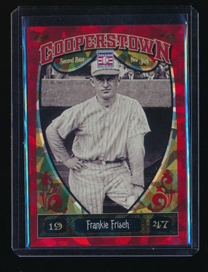 FRANKIE FRISCH 2013 PANINI COOPERSTOWN RED CRYSTAL 051/399 NEW YORK GIANTS