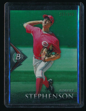 ROBERT STEPHENSON 2014 BOWMAN PLATINUM CHROME PROSPECTS GREEN REFRACTOR 153/399