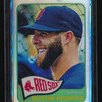 DUSTIN PEDROIA 2014 TOPPS HERITAGE CHROME REFRACTOR 270/565 BOSTON RED SOX