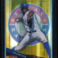 DILLON TATE 2015 BOWMAN'S BEST TOP PROSPECTS GOLD REFRACTOR 08/50 *TEXAS RANGERS