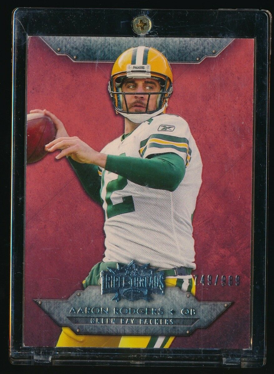 AARON RODGERS 2011 TOPPS TRIPLE THREADS #50 749/989 *GREEN BAY PACKERS*