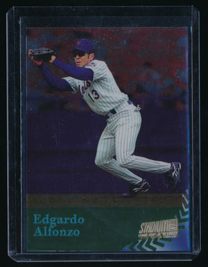 EDGARDO ALFONZO 1998 STADIUM CLUB ONE OF A KIND 136/150 NEW YORK METS