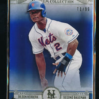 DILSON HERRERA 2015 TOPPS MUSEUM COLLECTION BLUE #13 71/99 NEW YORK METS