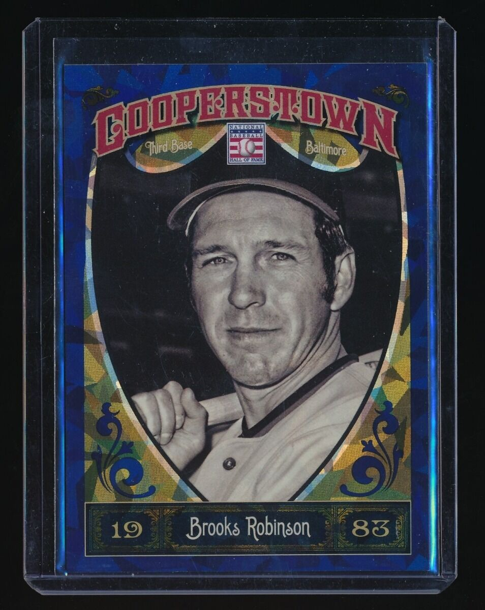 BROOKS ROBINSON 2013 PANINI COOPERSTOWN BLUE CRYSTAL 374/499 BALTIMORE ORIOLES