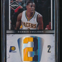DARREN COLLISON 2011-12 LIMITED JUMBO JERSEY NUMBERS PATCH 12/25 *INDIANA PACERS