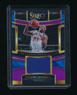 WILSON CHANDLER 2018-19 SELECT THROWBACK PRIZMS PURPLE JERSEY 45/99 *KNICKS*