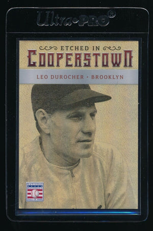 LEO DUROCHER 2015 PANINI ETCHED IN COOPERSTOWN HOLO GOLD 4/5 BROOKLYN DODGERS
