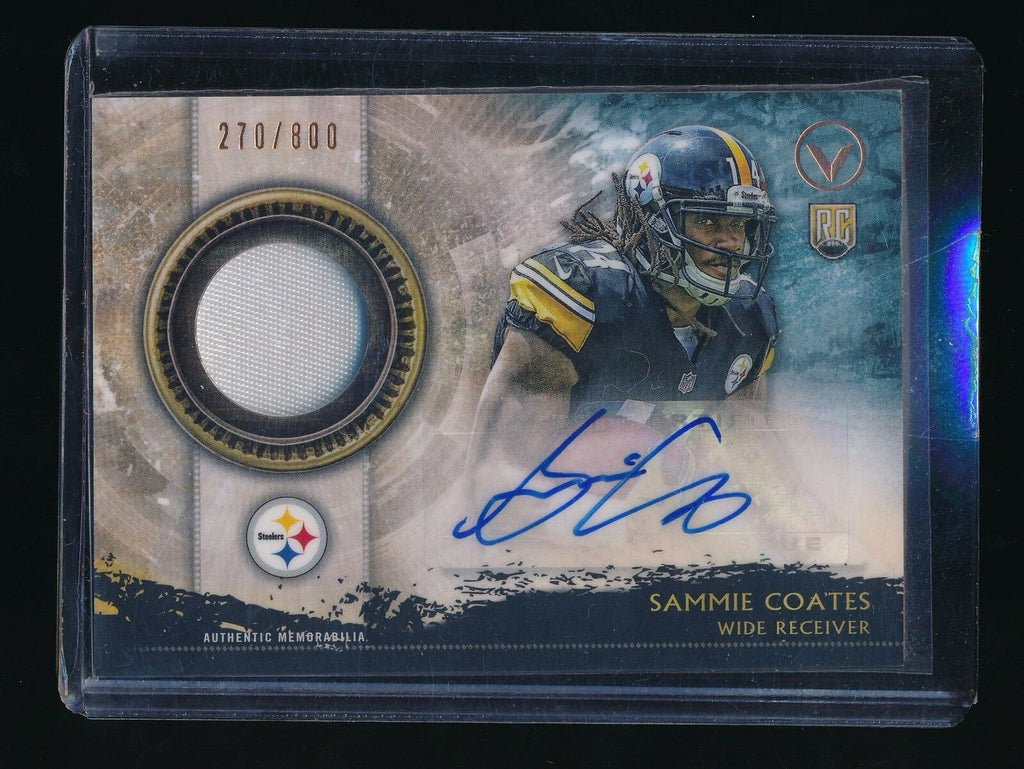 SAMMIE COATES 2015 TOPPS VALOR SHIELD OF HONOR PATCH RC AUTO 270/800 *BROWNS*