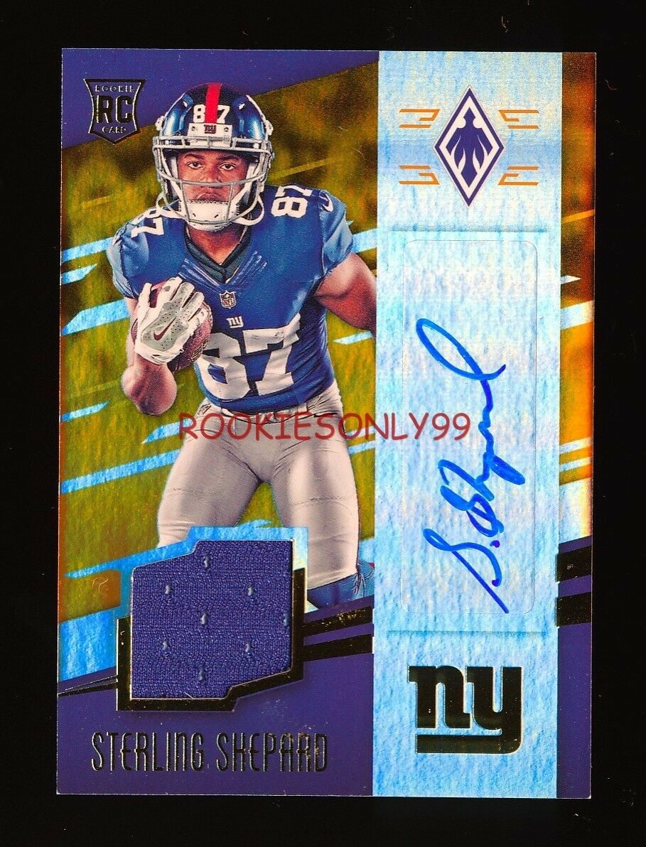 STERLING SHEPARD 2016 PANINI PHOENIX NY NEW YORK GIANTS JERSEY AUTO #D 67/99
