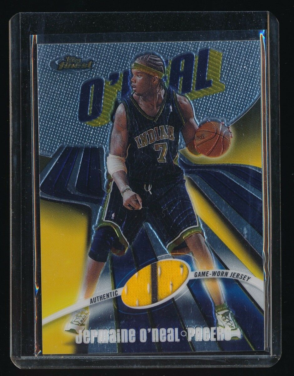 JERMAINE O'NEAL 2003-04 FINEST JERSEY 899/999 *INDIANA PACERS*