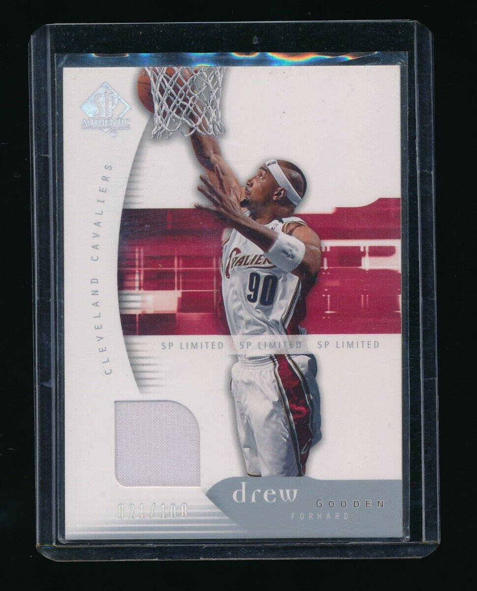 DREW GOODEN 2005-06 SP AUTHENTIC LIMITED WARM UP 020/100 *CLEVELAND CAVALIERS*