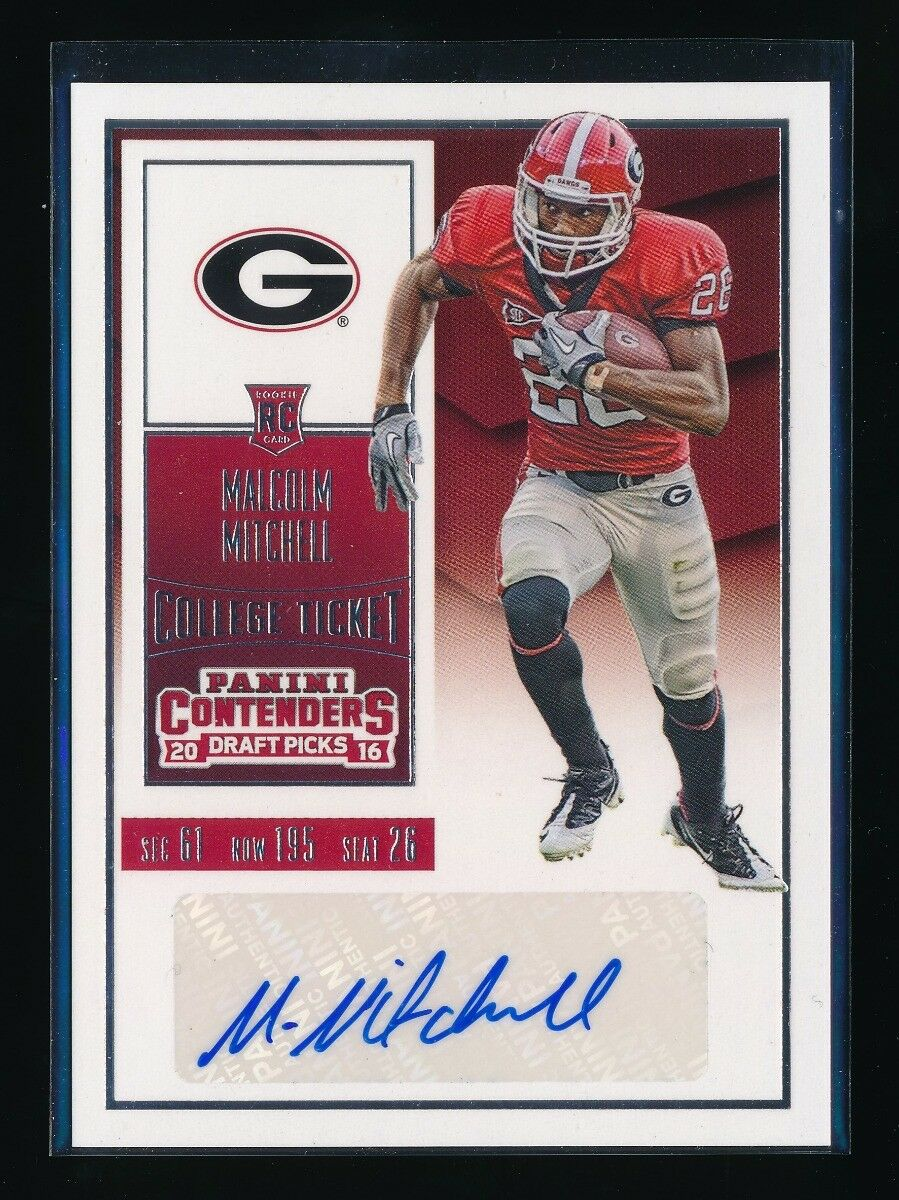 MALCOLM MITCHELL 2016 PANINI CONTENDERS DRAFT PICKS RC AUTO NEW ENGLAND PATRIOTS