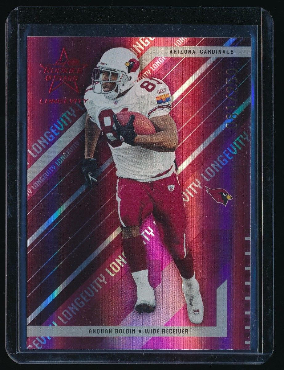 ANQUAN BOLDIN 2004 LEAF ROOKIES AND STARS LONGEVITY RUBY #1 081/250 *CARDINALS*