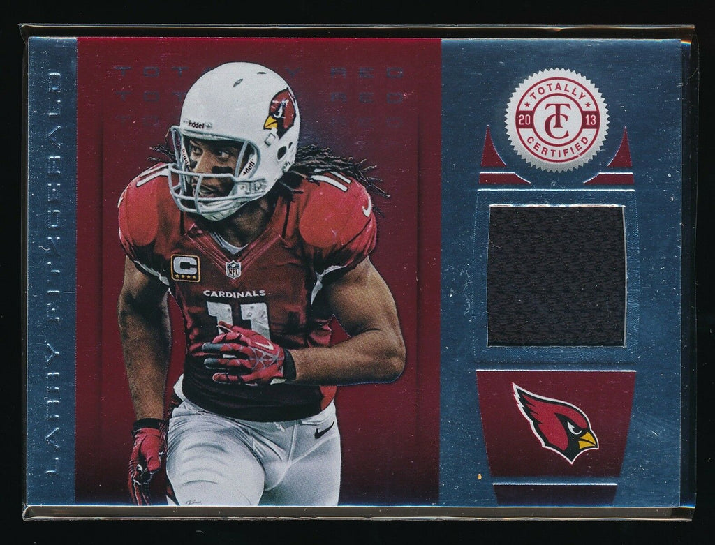 LARRY FITZGERALD 2013 TOTALLY CERTIFIED RED MATERIAL JERSEY 073/299 *CARDINALS*
