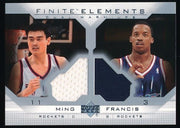 Y. MING/S. FRANCIS 2003-04 UPPER DECK FINITE ELEMENTS JERSEY #FE5 *ROCKETS*