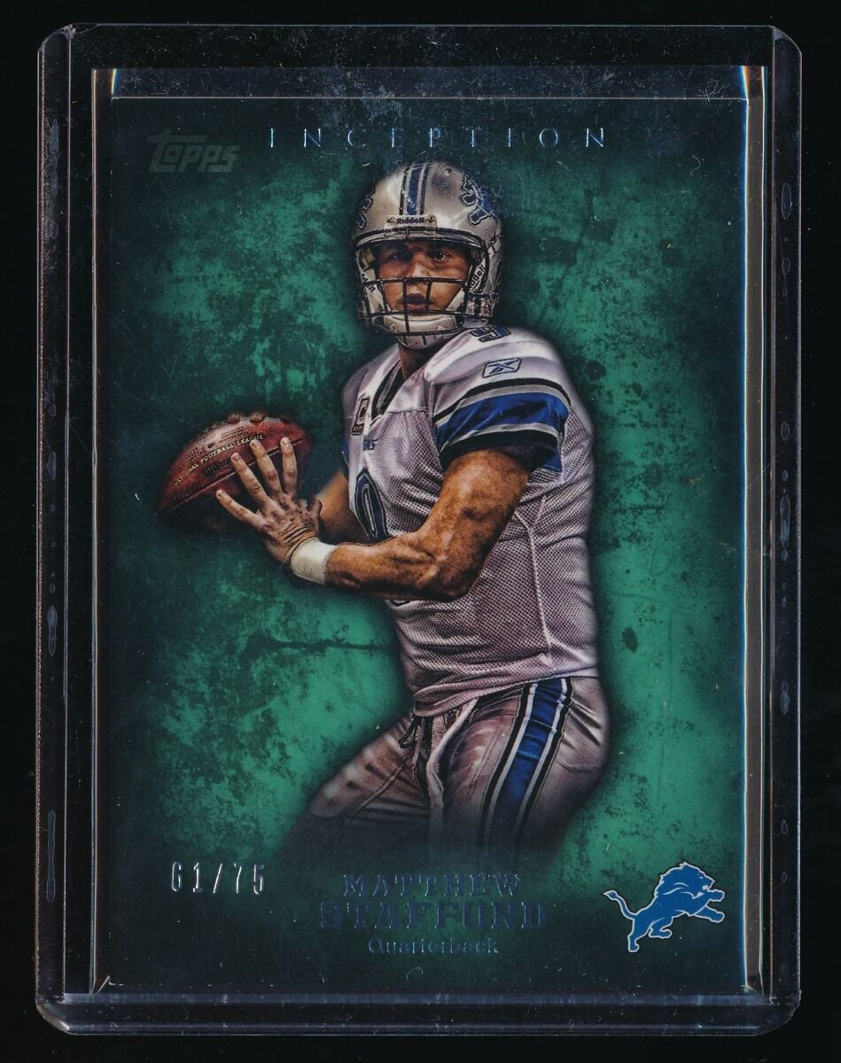 MATTHEW STAFFORD 2012 TOPPS INCEPTION GREEN #63 61/75 DETROIT LIONS