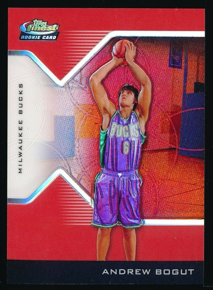 ANDREW BOGUT 2004-05 TOPPS FINEST REFRACTORS RED RC 152/159 *MILWAUKEE BUCKS*