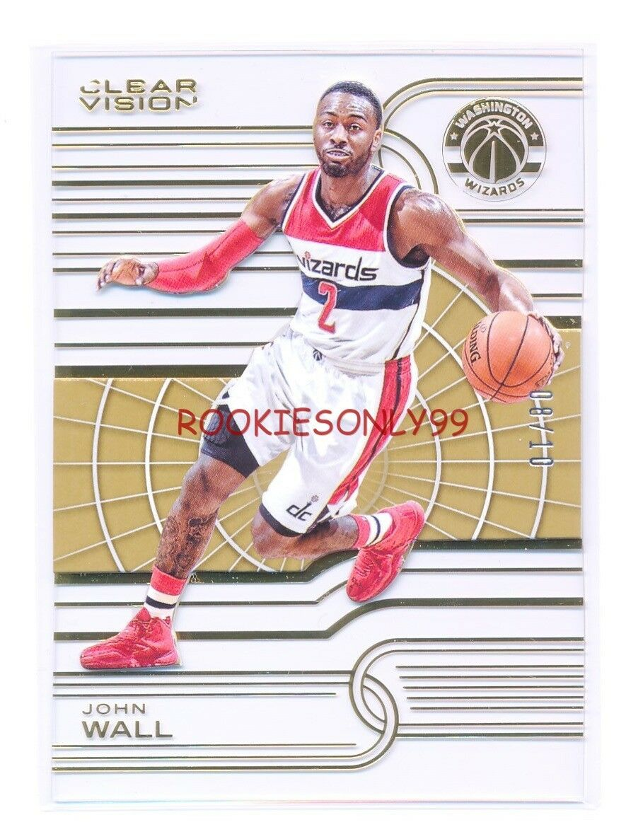 JOHN WALL 2015-16 PANINI CLEAR VISION GOLD PARALLEL EDITION #D 08/10 *WIZARDS*