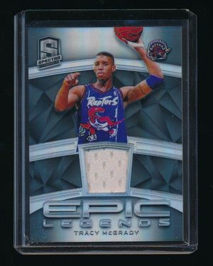TRACY MCGRADY 2018-19 PANINI SPECTRA EPIC LEGENDS JERSEY #/99 *TORONTO RAPTORS*