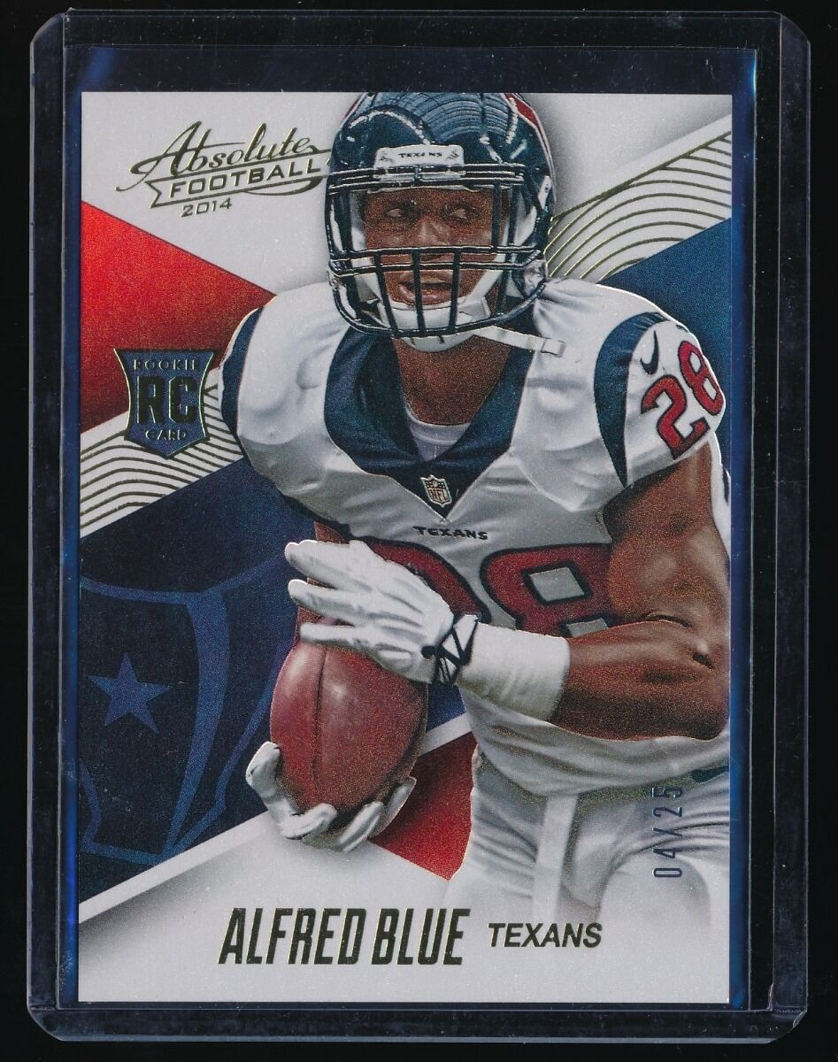 ALFRED BLUE 2014 ABSOLUTE SPECTRUM GOLD #103 RC 04/25 HOUSTON TEXANS